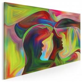 Zjednoczenie dusz - nowoczesny obraz na płótnie - 120x80 cm