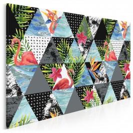 Czar tropików - nowoczesny obraz na płótnie - 120x80 cm