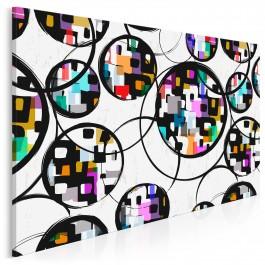 Setki miraży - nowoczesny obraz do sypialni - 120x80 cm