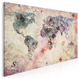 Alfabet podróżnika - nowoczesny obraz na płótnie - 120x80 cm
