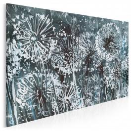 Biały puch - nowoczesny obraz na płótnie - 120x80 cm