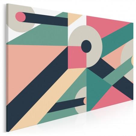 Misterna konstrukcja - nowoczesny obraz na płótnie - 120x80 cm