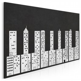 Dźwięki miasta - nowoczesny obraz na płótnie - 120x80 cm