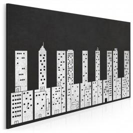 Dźwięki miasta - nowoczesny obraz na płótnie