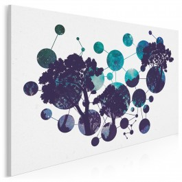 Genealogia drzewa - nowoczesny obraz na płótnie - 120x80 cm