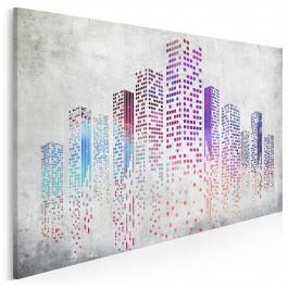 Miasto przyszłości - nowoczesny obraz na płótnie - 120x80 cm