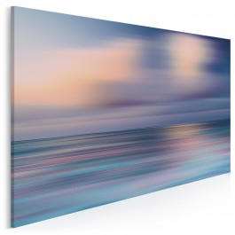 Odkrywanie błękitu - nowoczesny obraz na płótnie - 120x80 cm