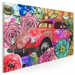 Flower power - nowoczesny obraz na płótnie - 120x80 cm