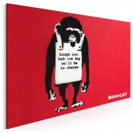 Banksy - Małpa - nowoczesny obraz na płótnie