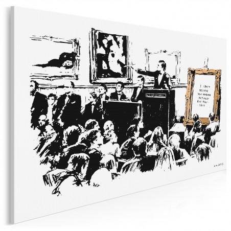 Banksy - Tłum - nowoczesny obraz na płótnie - 120x80 cm