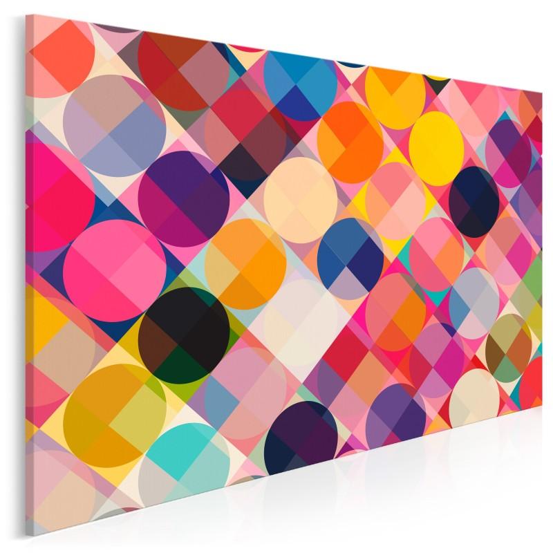 Rytmiczny funk - nowoczesny obraz na płótnie - 120x80 cm