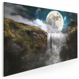 Księżyc w nowiu - nowoczesny obraz na płótnie - 120x80 cm