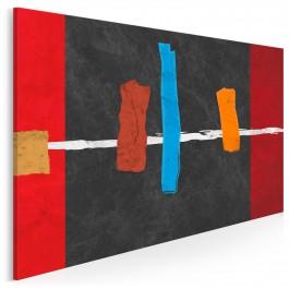 Nuta optymizmu - nowoczesny obraz na płótnie - 120x80 cm