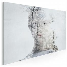 Królowa śniegu - nowoczesny obraz na płótnie