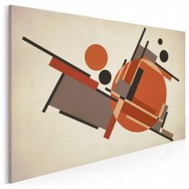 Karminowy sen - nowoczesny obraz na płótnie - 120x80 cm