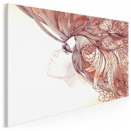 Leśna nimfa - nowoczesny obraz na płótnie - 120x80 cm