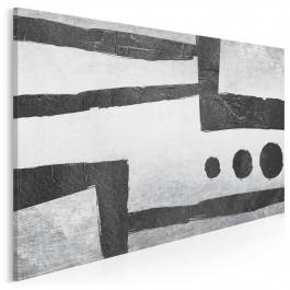 Kropki i kreski - nowoczesny obraz na płótnie - 120x80 cm