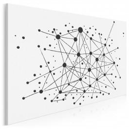 Strumień świadomości - nowoczesny obraz na płótnie - 120x80 cm