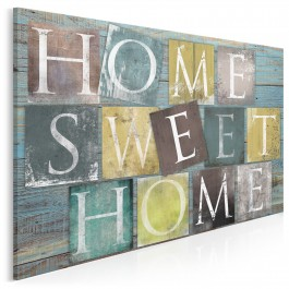 Home sweet home - nowoczesny obraz na płótnie - 120x80 cm