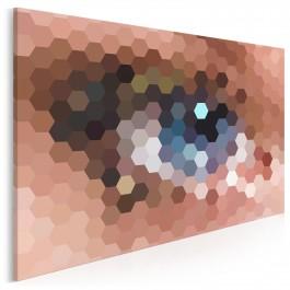 Magnetyczne spojrzenie - nowoczesny obraz na płótnie