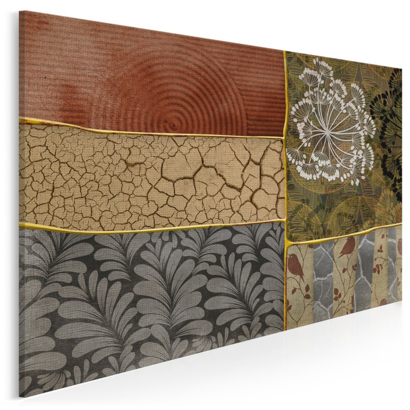 Elegancki patchwork - nowoczesny obraz na płótnie - 120x80 cm