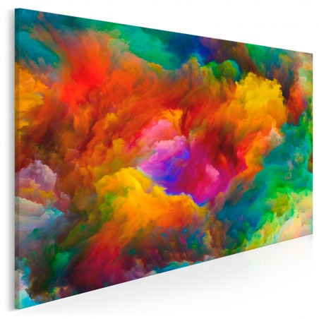 Barwna salwa - nowoczesny obraz na płótnie - 120x80 cm