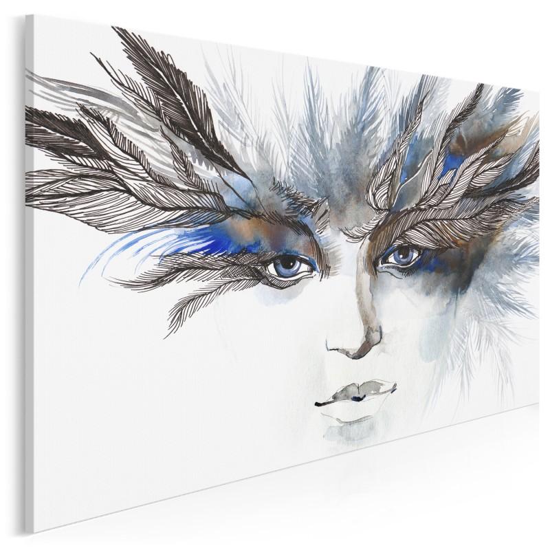Pióropusz spojrzeń - nowoczesny obraz na płótnie - 120x80 cm