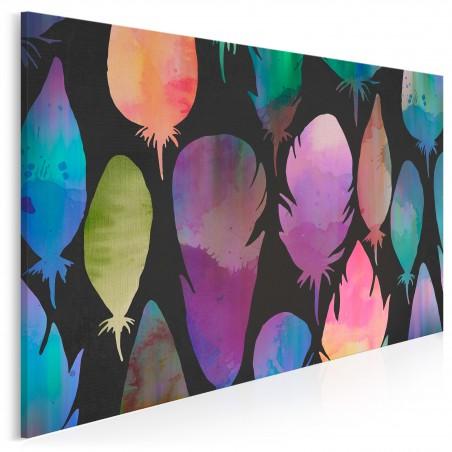Karnawał kontrastów - nowoczesny obraz na płótnie - 120x80 cm