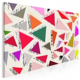 Witraże wspomnień - nowoczesny obraz na płótnie - 120x80 cm