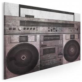 Muzeum dźwięku - nowoczesny obraz na płótnie - 120x80 cm