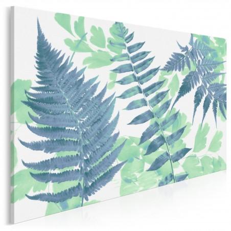 Anatomia zieleni - nowoczesny obraz na płótnie - 120x80 cm