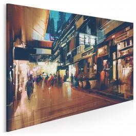 Promenada dusz - nowoczesny obraz na płótnie - 120x80cm