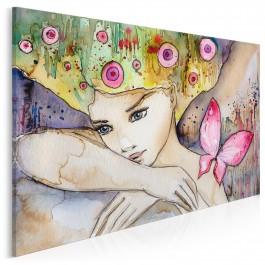 Rubinowe muśnięcie motyla - nowoczesny obraz na płótnie - 120x80 cm