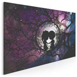 Przymierze serc - nowoczesny obraz na płótnie - 120x80 cm