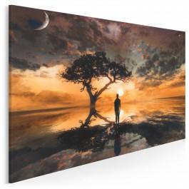 Widnokrąg wzruszeń - nowoczesny obraz do sypialni - 120x80 cm