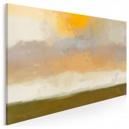 Sielski poranek - nowoczesny obraz na płótnie - 120x80 cm