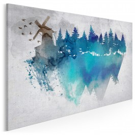 Sen o Atlantydzie - nowoczesny obraz na płótnie - 120x80 cm
