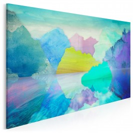 Jezioro zachwytów - nowoczesny obraz na płótnie - 120x80 cm
