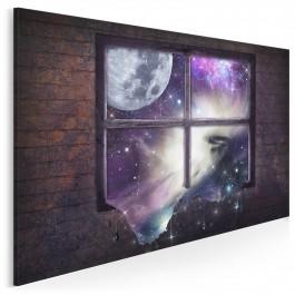 Przestworza lepszego jutra - nowoczesny obraz na płótnie - 120x80 cm
