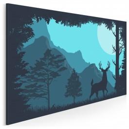 Poranek w Yellowstone - nowoczesny obraz na płótnie - 120x80 cm