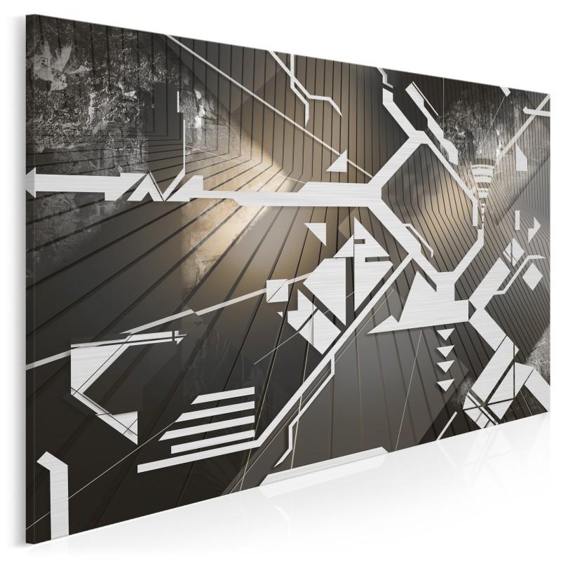 Moduł tożsamości - nowoczesny obraz na płótnie - 120x80 cm