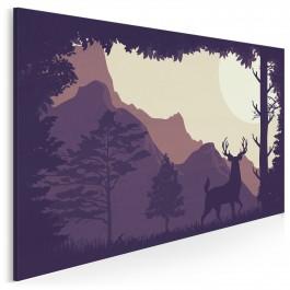 Wieczór w Yellowstone - nowoczesny obraz na płótnie - 120x80 cm