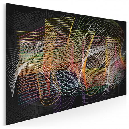 Meandry logiki - nowoczesny obraz na płótnie - 120x80 cm