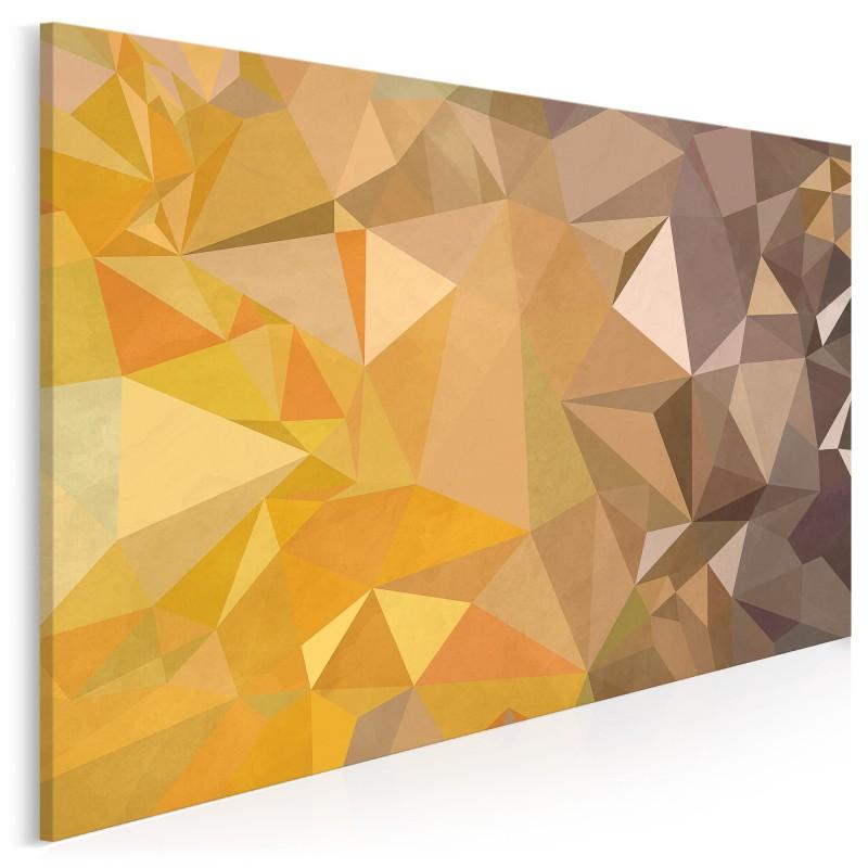 Złoty kryształ - nowoczesny obraz na płótnie - 120x80 cm