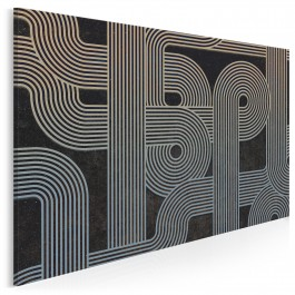 Retrospekcja - nowoczesny obraz na płótnie - 120x80 cm