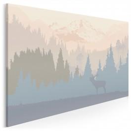 Serce Skandynawii - nowoczesny obraz na płótnie - 120x80 cm