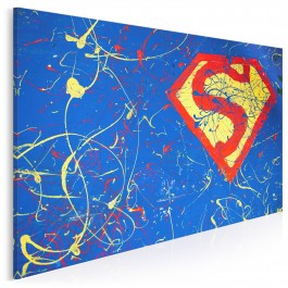 Superbohater - nowoczesny obraz na płótnie