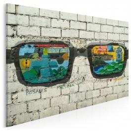 Okulary szczęścia - fotografia na płótnie - 120x80 cm