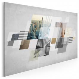 Temperament wielkiego miasta - nowoczesny obraz na płótnie - 120x80 cm