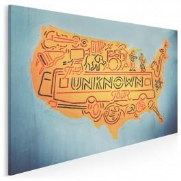 Unknown tour - fotografia na płótnie - 120x80 cm